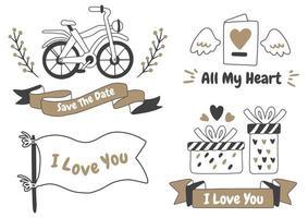 logo vectoriel étiquette de la Saint-Valentin pour bannière