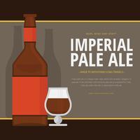 Modèle de thème Imperial Pale Ale vecteur