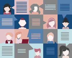 communication entre les employés dans le vecteur de l & # 39; entreprise