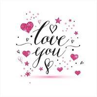 je t'aime texte de fond de saint valentin vecteur
