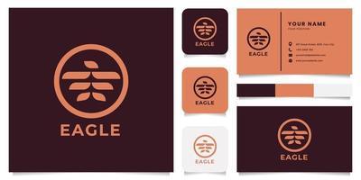logo aigle avec modèle de carte de visite vecteur