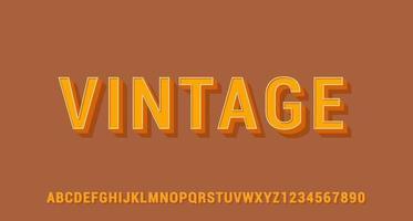effet de texte 3d vintage vecteur