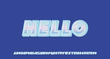 effet de texte 3d holograpique