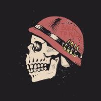 né pour tuer l'illustration du crâne vecteur