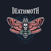 illustration dessinée à la main de papillon de mort vecteur