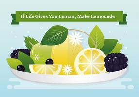 Illustration de bol de citron de vecteur