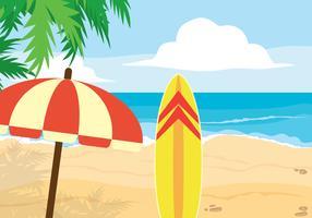 Illustration de vacances à la plage vecteur
