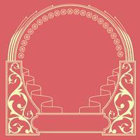 Vecteur de cadre Art Nouveau ornemental