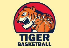 Illustration vectorielle de basket-ball mascotte vecteur