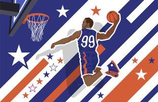 Slam Dunk Illustration Vecteur