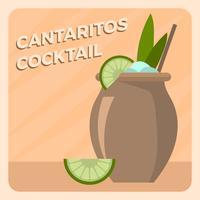 Plat Cantaritos Cocktail Vector Illlustration