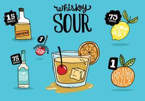recette de whisky aigre vecteur