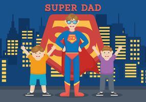 Illustration vectorielle de super-héros papa