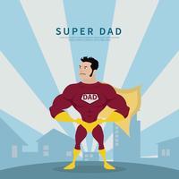 Illustration de super héros papa vecteur
