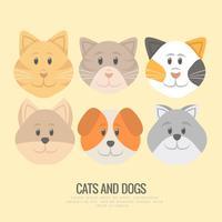 Vecteur chiots et chatons
