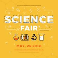 vecteur de l'affiche équitable de la science