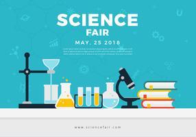 Bannière d'affiche de la foire scientifique