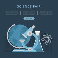 Modèle d'expo-sciences et d'innovation vecteur