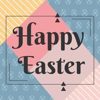 Vecteur de Pâques Joyeux élégant