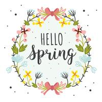Bonjour le vecteur de printemps