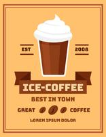 Affiche de café glacé vecteur