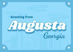 Augusta Géorgie Carte Postale vecteur