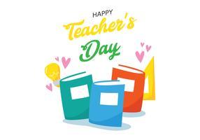 Illustration de la journée des enseignants heureux vecteur