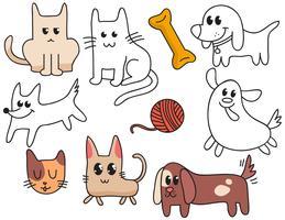 Vecteurs de chatons de chiots vecteur