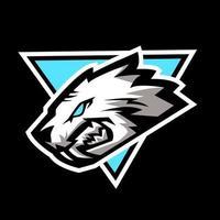 logo de mascotte tête de lion vecteur