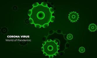 virus corona à wuhan. vecteurs corona de virus. fond rouge. illustration vectorielle vecteur