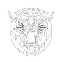 illustration vectorielle dessinés à la main du tigre