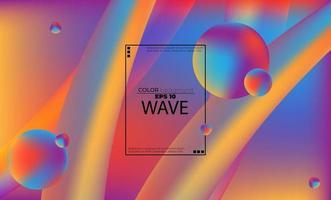 Modèle de couleur fluide abstrait de fond dégradé liquide coloré avec style de mouvement dynamique géométrique moderne adapté pour fond d'écran, bannière, fond, carte, illustration de livre, page de destination vecteur