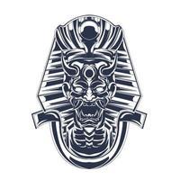 illustration de satan egypte encrage illustration vecteur