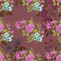 motif floral sans couture vintage mignon vecteur