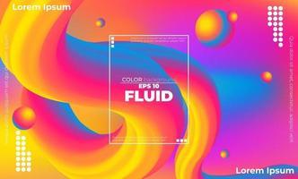Modèle de couleur fluide abstrait de fond dégradé liquide de couleur néon avec style de mouvement dynamique géométrique moderne adapté pour fond d'écran, bannière, fond, carte, illustration de livre, page de destination, vecteur