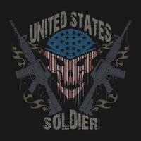 conception de vêtements de vétérans de l'armée de soldat des états-unis vecteur