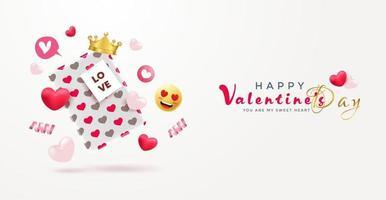 fond de vente de la saint-valentin vecteur