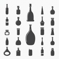 icônes de bouteille mis illustration vecteur