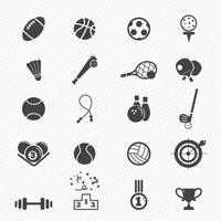 icônes de sport mis en illustration vecteur