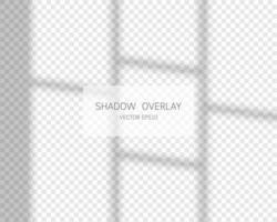 effet de superposition d'ombre. ombres naturelles de la fenêtre isolée sur fond transparent. illustration vectorielle. vecteur