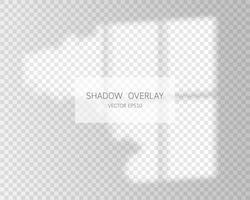 effet de superposition d'ombre. ombres naturelles de la fenêtre isolée vecteur