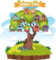 diagramme montrant un arbre généalogique de trois générations vecteur