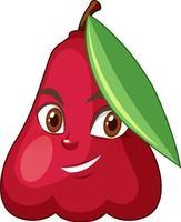 personnage de dessin animé de pomme rose avec expression faciale vecteur