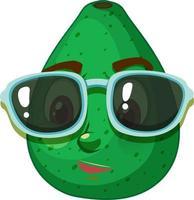 personnage de dessin animé de pomelo avec expression faciale