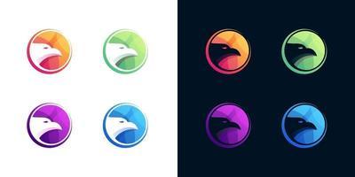 ensemble de conception de logo oiseau vecteur