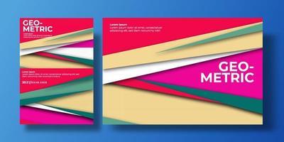 fond abstrait coloré. présentation de couverture. conception géométrique future. modèles pour fond, rochures, affiches, couvertures, cahiers, magazines, bannières, flyers et cartes. vecteur