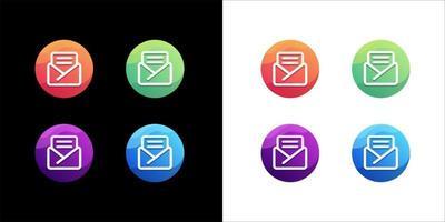 création de logo de courrier sur fond blanc et sombre vecteur