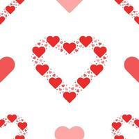 modèle sans couture coeur amour vecteur