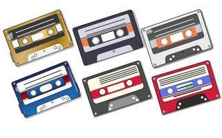cassettes audio isolées vecteur