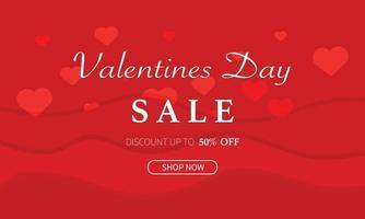 vecteur de modèle de vente saint valentin